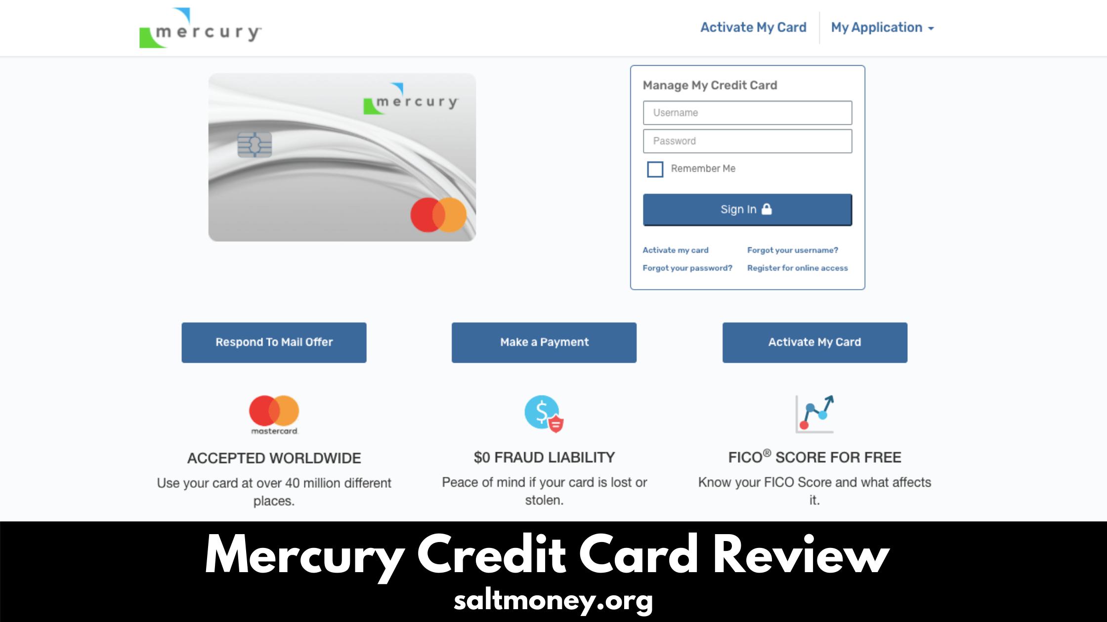 Mercury Credit Card Review