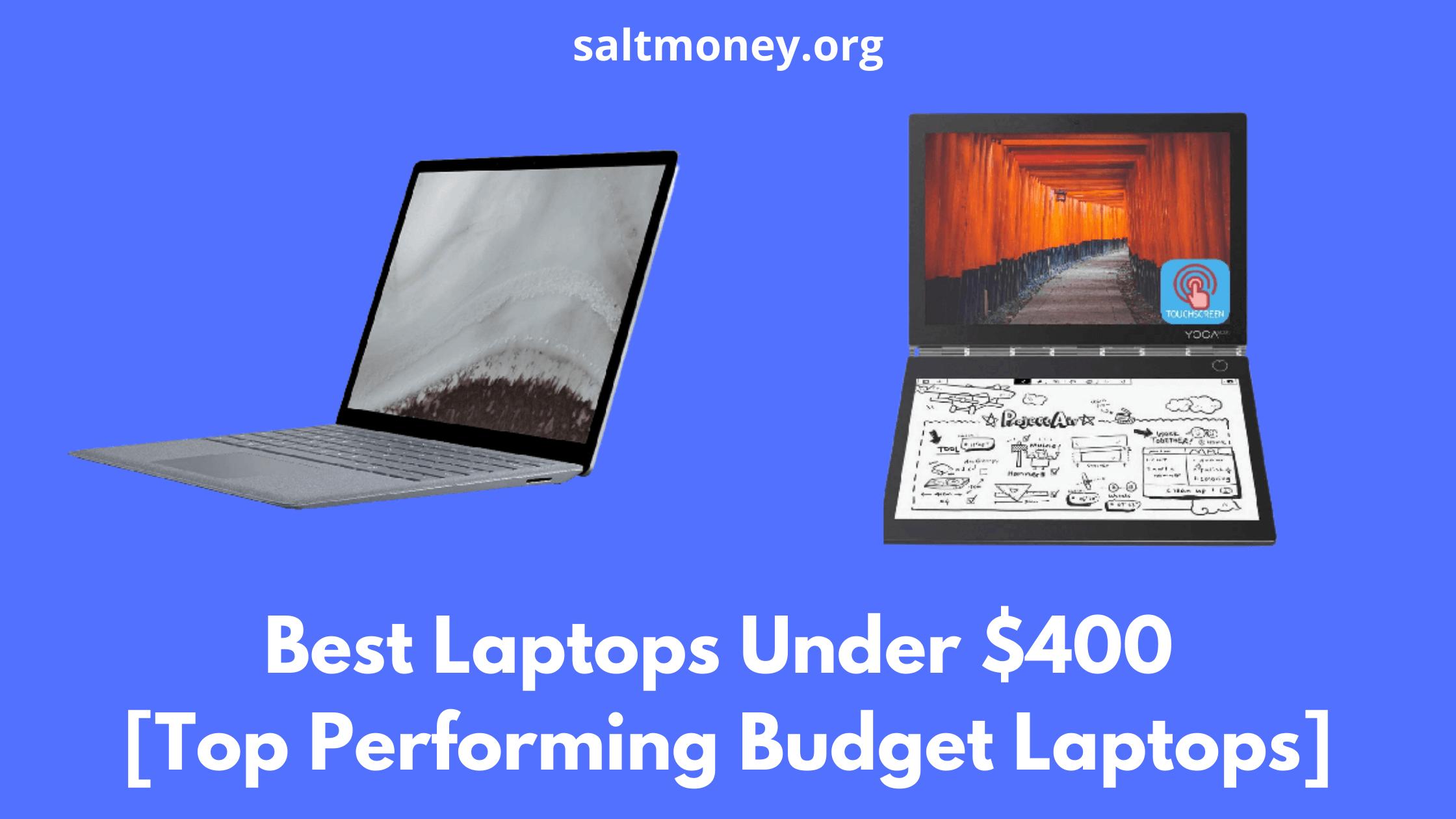 Best Laptops Under $400